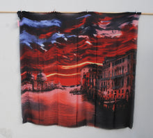 "Load image into Gallery viewer, ""Red Sky"" - Uniquely Designed Scarf - Summertime Boutique"