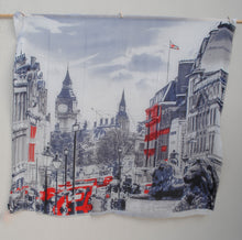 "Load image into Gallery viewer, ""Streets of London"" - Uniquely Designed Scarf"