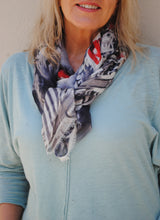 "Load image into Gallery viewer, ""Mysterious Red"" - Uniquely Designed Scarf - Summertime Boutique"