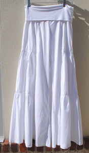 Side Tiered Pant White - Summertime Boutique