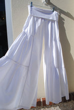 Load image into Gallery viewer, Side Tiered Pant White - Summertime Boutique