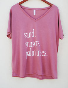 Sand. Sunsets. Palm Trees. Top - Summertime Boutique