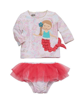 Mermaid Rash Guard & Tutu Set - Summertime Boutique
