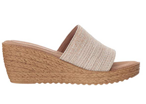 Raffia Wedge Banded Slip On