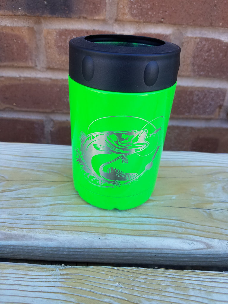 Fish - Bright Green 12 oz can cooler