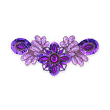 Beaded Appliqué in Purple Matte AB (26x12cm)