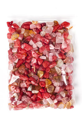 100g Semi-Precious Loose Chips - Clementine Fire Mix (SP014)