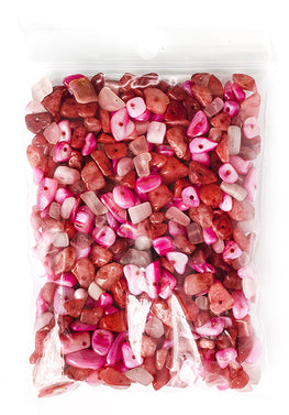 100g Semi-Precious Loose Chips - Pink Candy Mix (SP016)