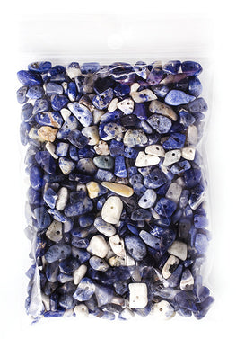 100g Semi-Precious Loose Chips - Sodalite Blue Mix (SP020)