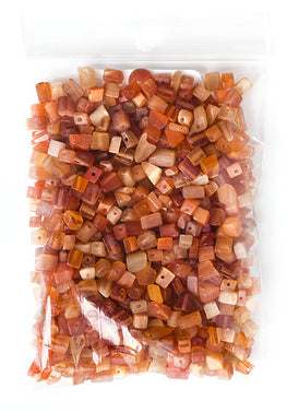 100g Semi-Precious Loose Chips - Coral Dyed Mix (SP021)