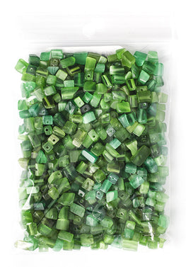 100g Semi-Precious Loose Chips - Emerald Green Mix (SP027)