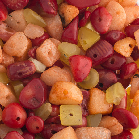 100g Semi-Precious Loose Chips - Sunset Mix (SP037)