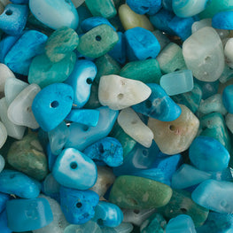 100g Semi-Precious Loose Chips - Aquatic Blue Mix (SP038)