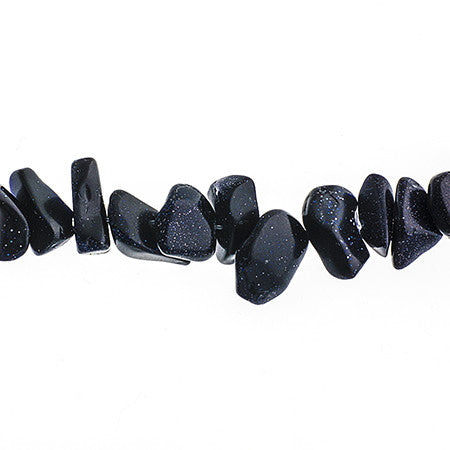 100g Semi-Precious Loose Chips - Blue Goldstone (SP069)