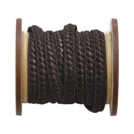 Braided Flat Trim - Brown - 0.25""