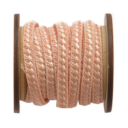 Braided Flat Trim - Peach - 0.25""