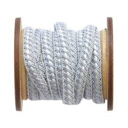 Braided Flat Trim - Dusty Blue - 0.25""