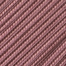 Braided Flat Trim - Dusty Rose - 0.25""