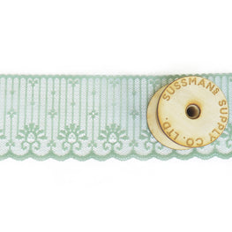 Lace Trim - Candlewick Scalloped Lace - Mint Green - 2.5""