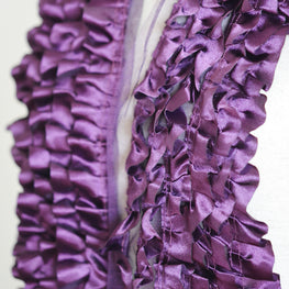 "Ruffle Trim - Lush Satin 6-Rows Lace Trim (6"")"