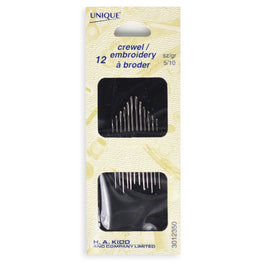 12pcs Crewel/Embroidery Needles (size 5/10)
