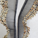 "Pleated Lace Trim - Cheetah/Leopard Animal Print Double Layered Trim (4"")"