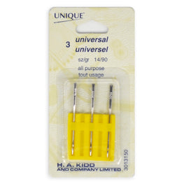 3pcs Universal Machine Sewing Needles - All Purpose (size 14/90)