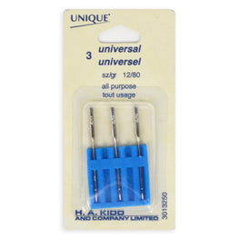 3pcs Universal Machine Sewing Needles - All Purpose (size 12/80)