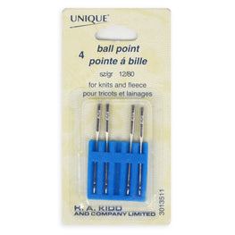 4pcs Ball Point Machine Sewing Needles - Knits and Fleece (size 12/80)