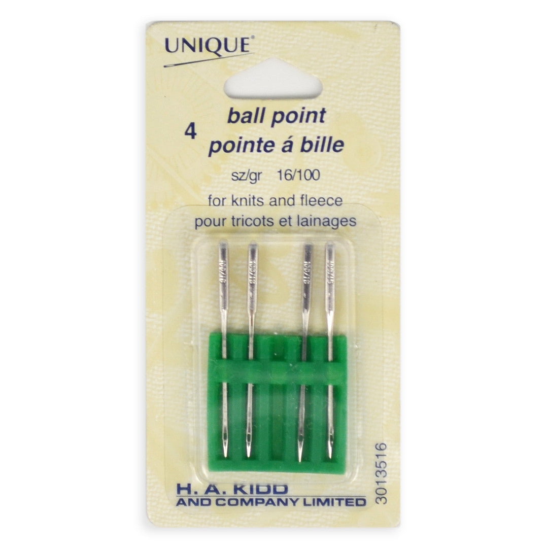 4pcs Ball Point Machine Sewing Needles for Knits and Fleece (size 16/100)
