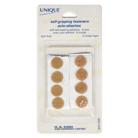 Velcro Circle Self-Gripping Fasteners - Beige (12mm)