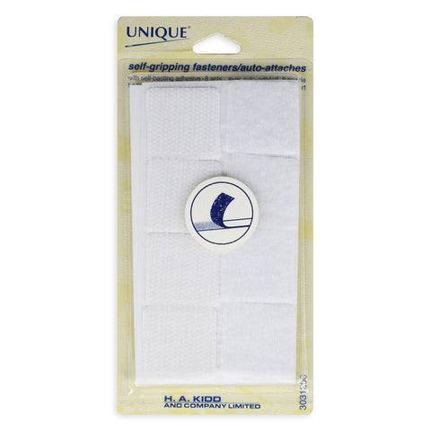 Velcro Square Self-Gripping Fasteners - White (25mm)