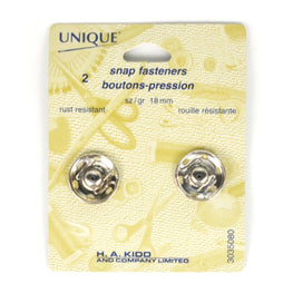 2 pairs Snap Fasteners - Silver (18mm)