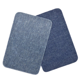 2pcs Iron-on Denim Patches - Dark Blue