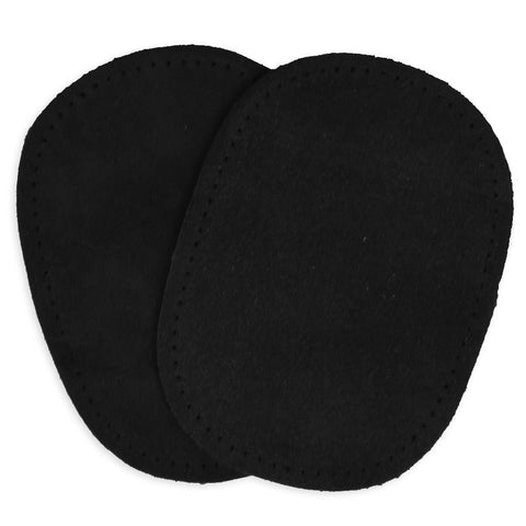 2pcs Suede Patches - Black