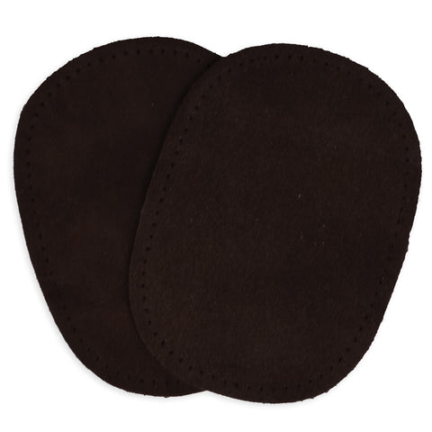 2pcs Suede Patches - Brown