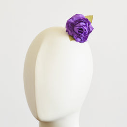 "Millinery Flower - Rosey Flower Applique - Purple (2.5"")"