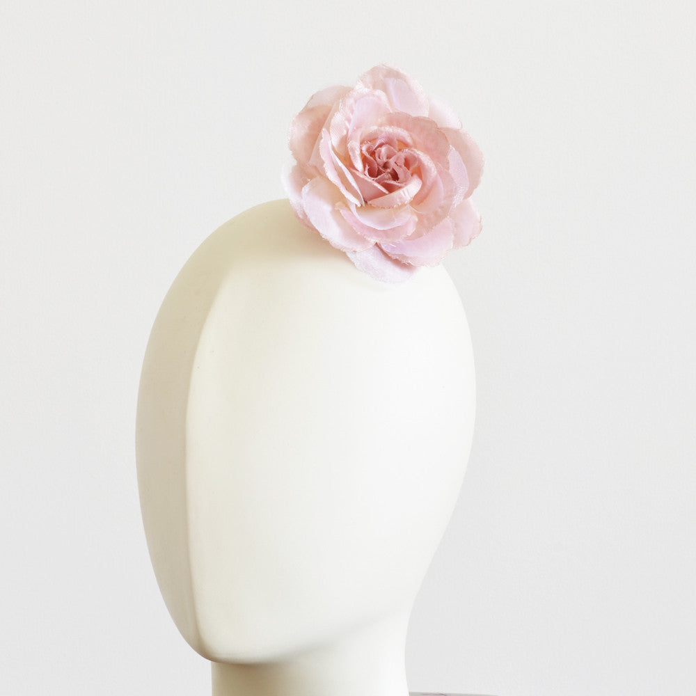 Millinery Flower - Scallop Blossom Rose - Dusty Pink (3.5
