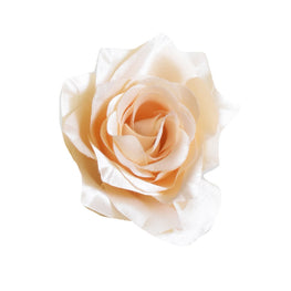 "Millinery Flower - Pointy Blossom Rose - Pearly Peach (3.5"")"