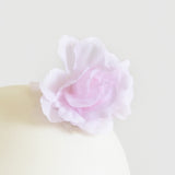 "Millinery Flower - Scallop Rose Flower Applique - Pink (2"")"