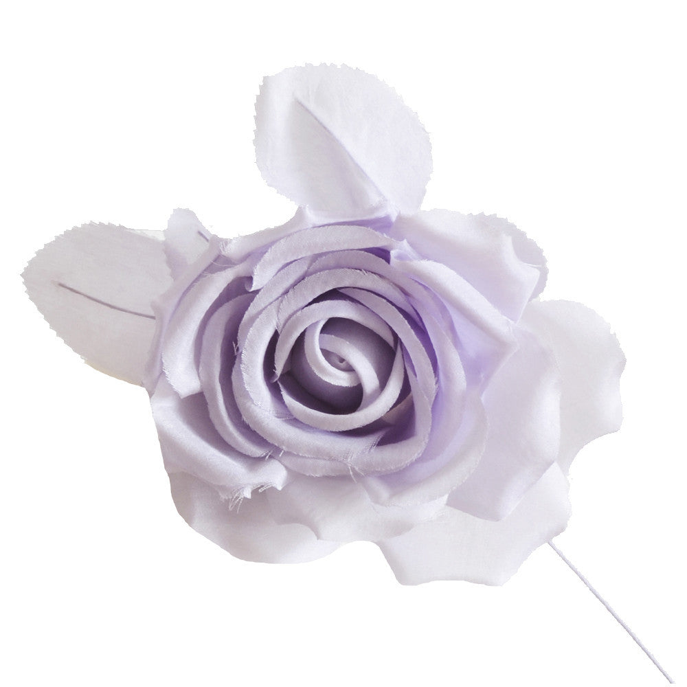 Millinery Flower Fiona Silk Rose Dusty Lilac 5 Sussmans