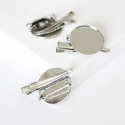 "Alligator Clip & Brooch Pin Base - 2 in 1 use (1.5"")"