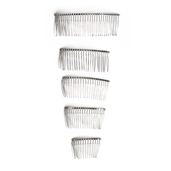 Hair Combs - Silver Metal for Millinery or Bridal