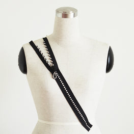 "Swarovski Zippers - Separating End Zippers Genuine Crystals (18"")"