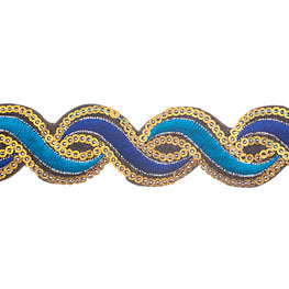 "1.2"" or 1.9"" Twist Sequin Trims - Blue/Light Blue"