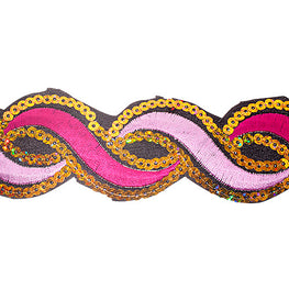 "1.2"" or 1.9"" Twist Sequin Trims - Pink/Fuchsia"
