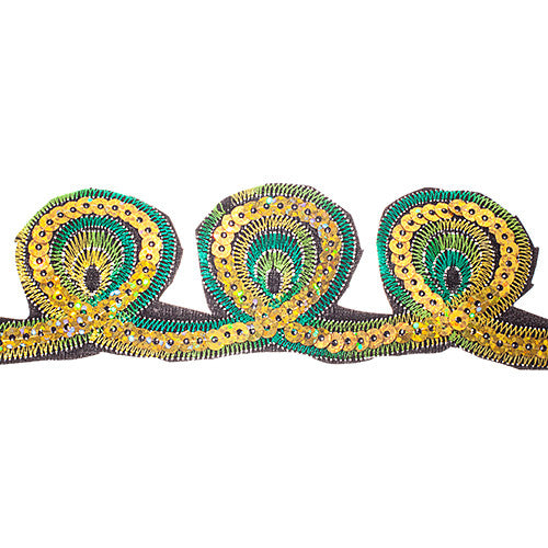 "1.5"" Sequin Trims Peacock Eyes"