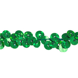 "0.25"" Stretchy Sequins Single Row Hologram Trim - Green"