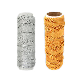 Metallic Elastic Spool - Gold or Silver (46m)
