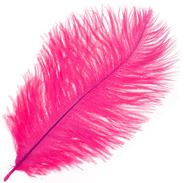 "Ostrich Drab Feathers - Hot Pink (3""-6"")"